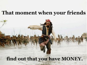 friends and money