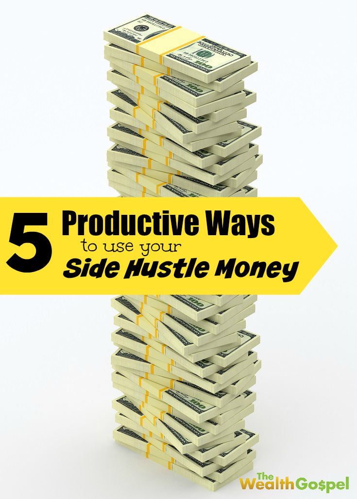 Starting your own side gig can be a great way to earn some extra cash. Here are 5 ways that you can use your side hustle money productively.